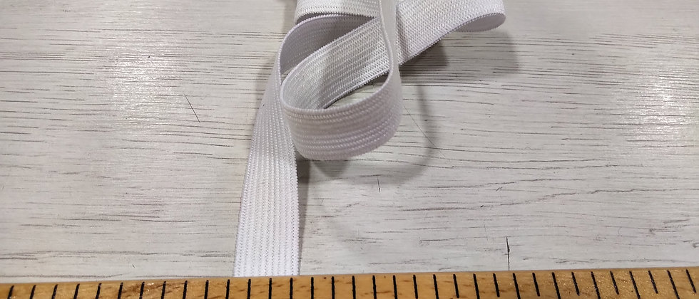 Goma blanca 1,5 cm ancho