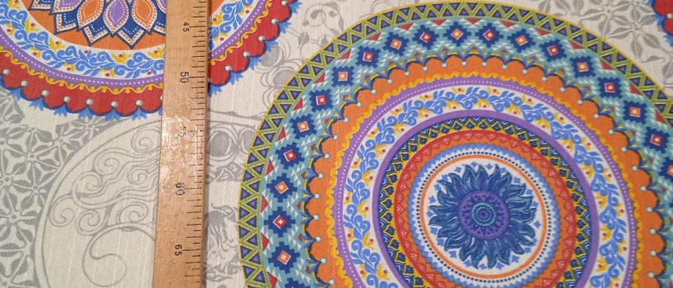 Hule resinado Mandalas étnicos 1.40m ancho