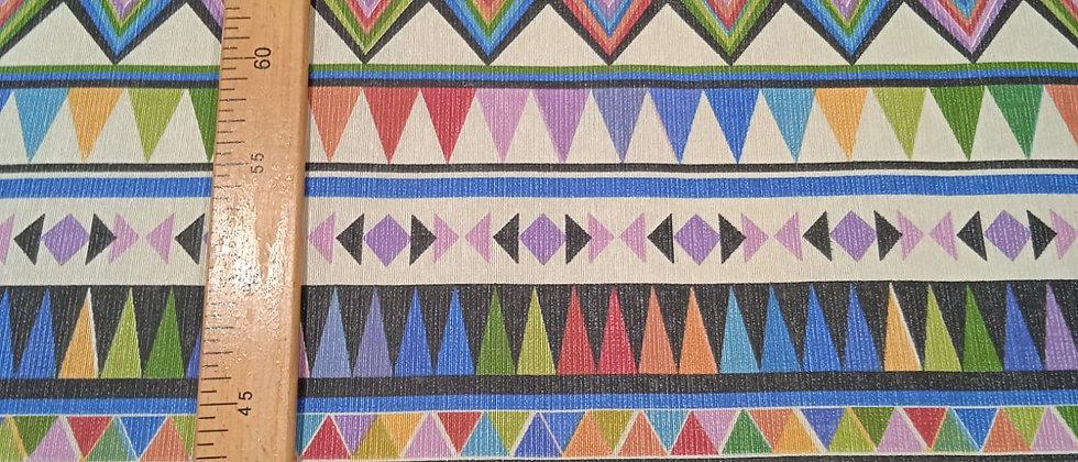 Hule resinado colorido étnico 1.40m ancho