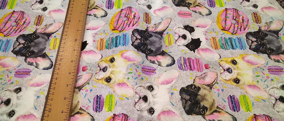Loneta perritos chuches 1.50m ancho