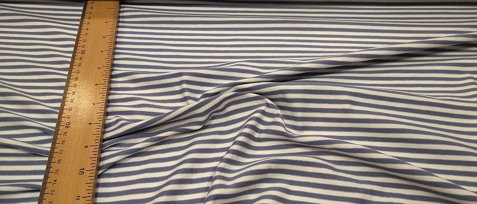 Punto de camiseta rayado azul 1.70m ancho