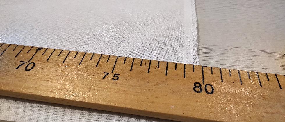 Entretela blanca pegado dos caras - 80 cm ancho