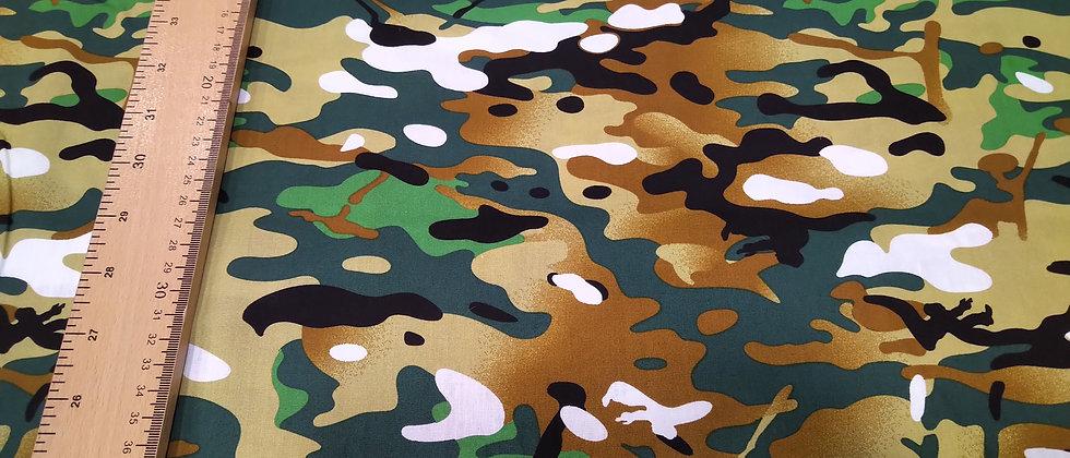 Algodón camuflaje colorido