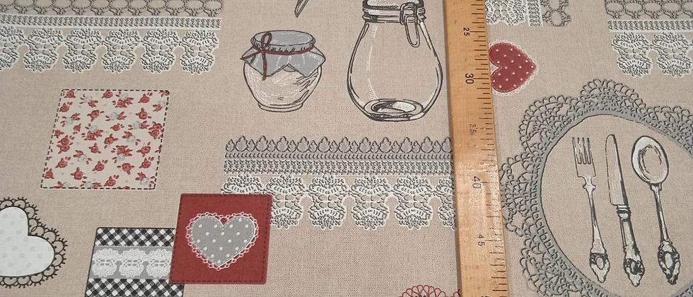 Hule resinado motivos cocina 1.40m ancho