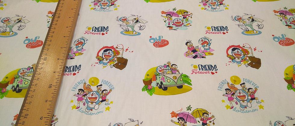 Algodón Doraemon y amigos