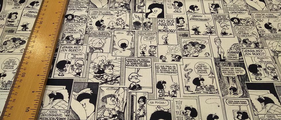 Retal algodón 33x48cm Mafalda cómic