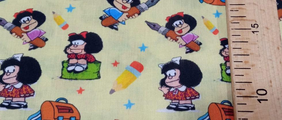 Retal algodón 33x48cm Mafalda Escuela