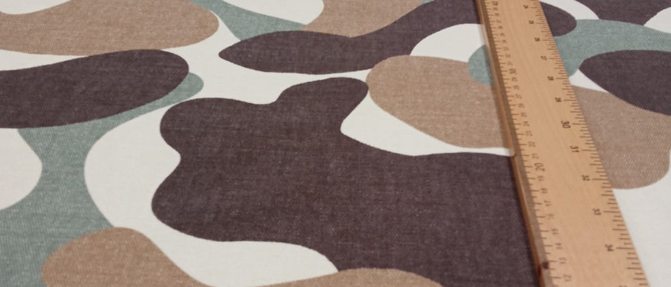 Loneta formas abstractas 1.50m ancho
