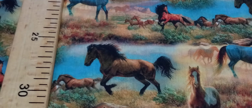 Retal 33x48cm caballos Algodón