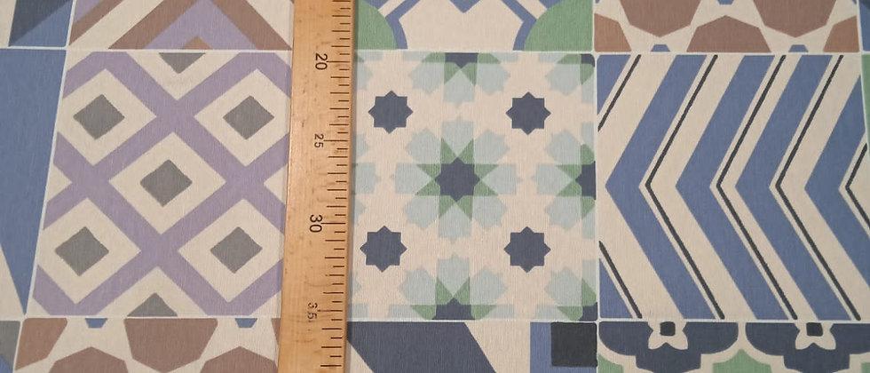 Hule resinado azulejos varios 1.40m ancho