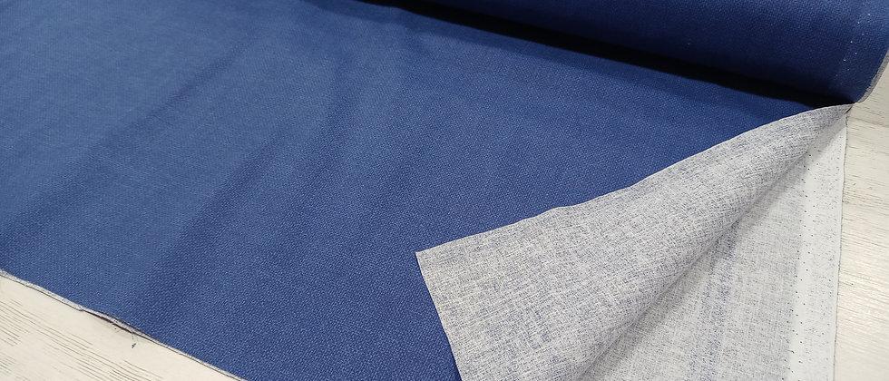 Algodón azul estampado tejano