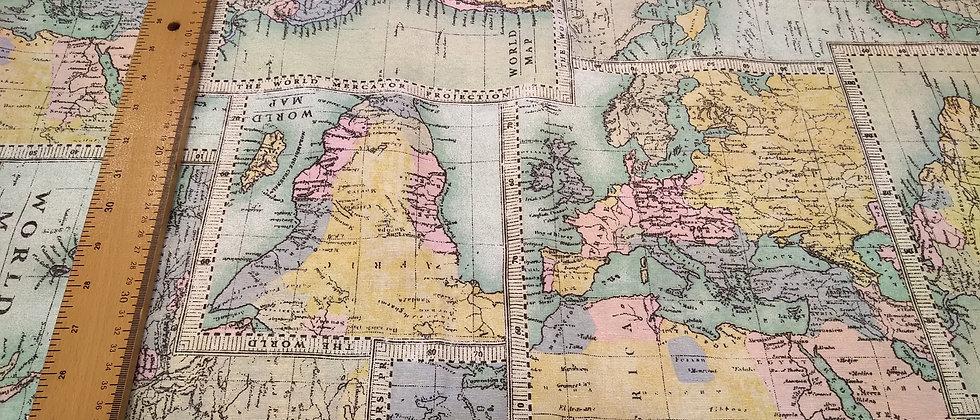 Loneta worldmap 2.80m ancho