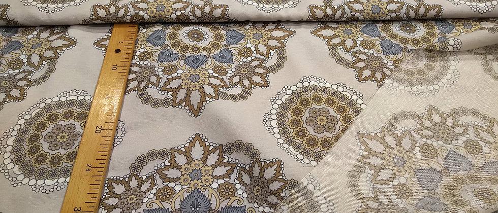 Loneta beige mandalas 2.80m ancho