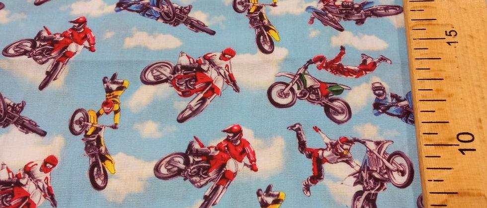 Retal algodón 33x48cm  Motocross
