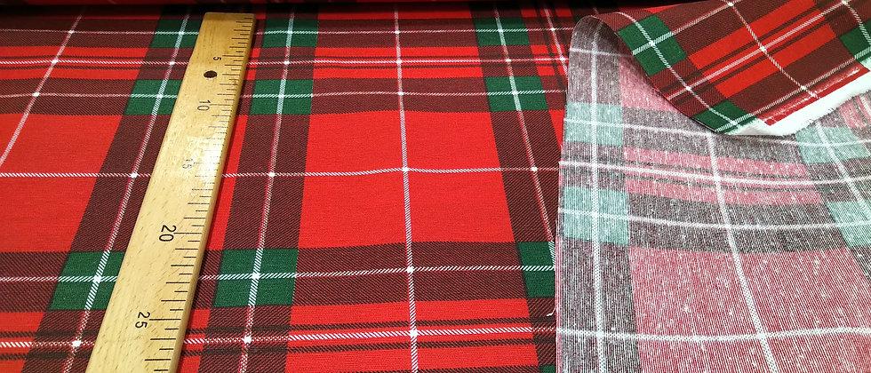 Loneta cuadros rojo y verde 2,80m ancho