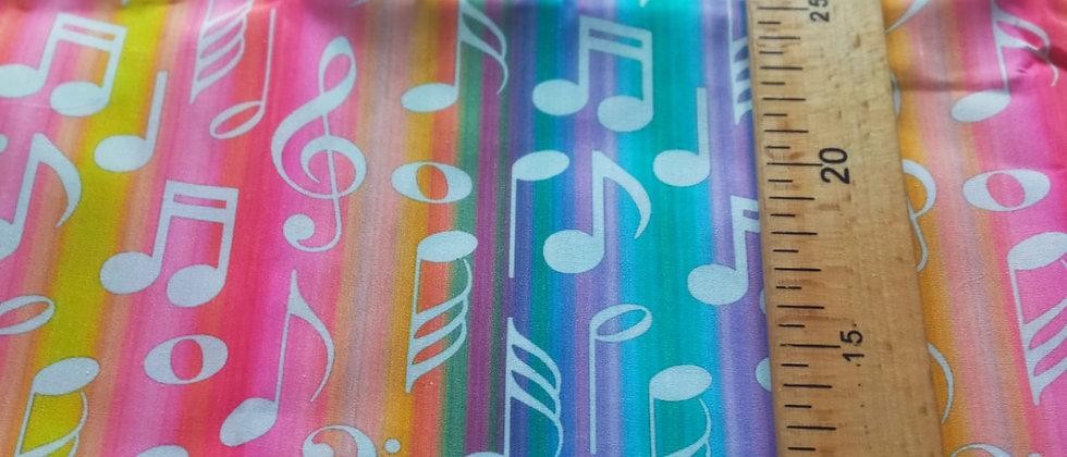 Retal algodón 48x50cm musica