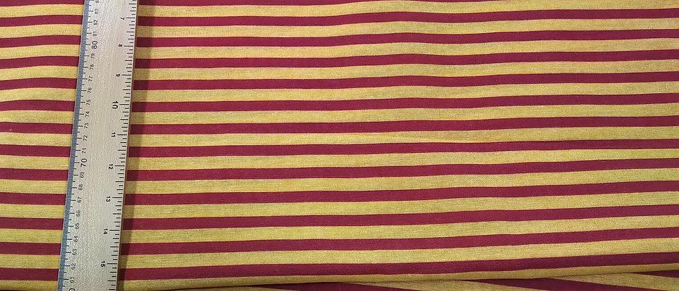 Loneta rayado rojo y amarillo 2.80m ancho