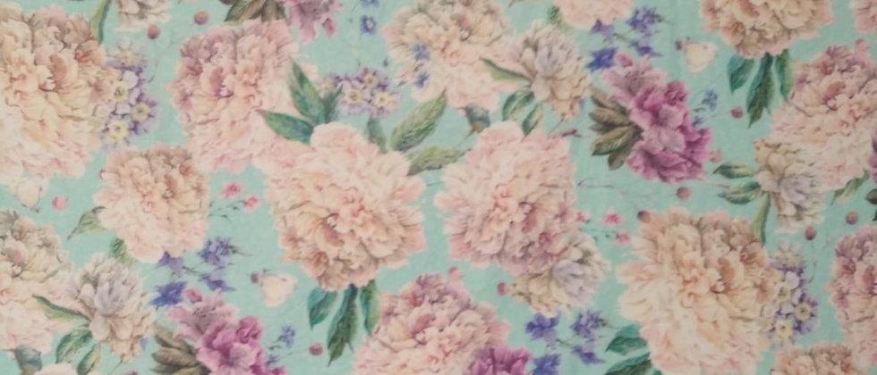 Flores fondo celeste