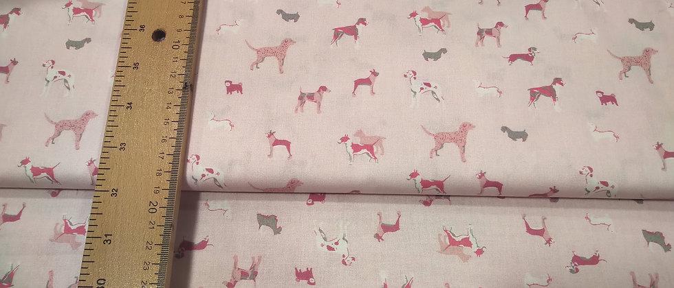 Algodón rosa perritos