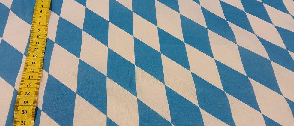 Rombos azul y blanco