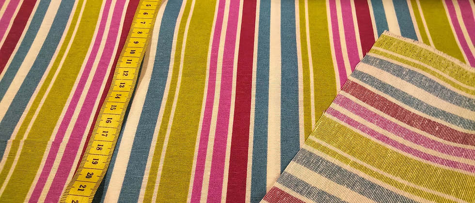 Loneta rayada de colores 2,80m ancho