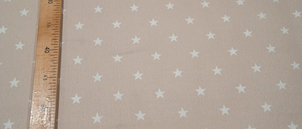 Hule resinado beige estrellado
