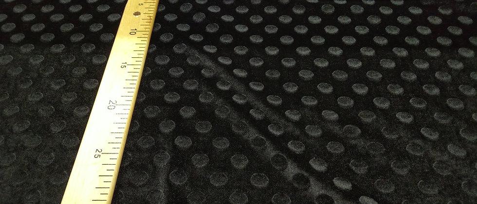 Antelina aterciopelada negra con lunares