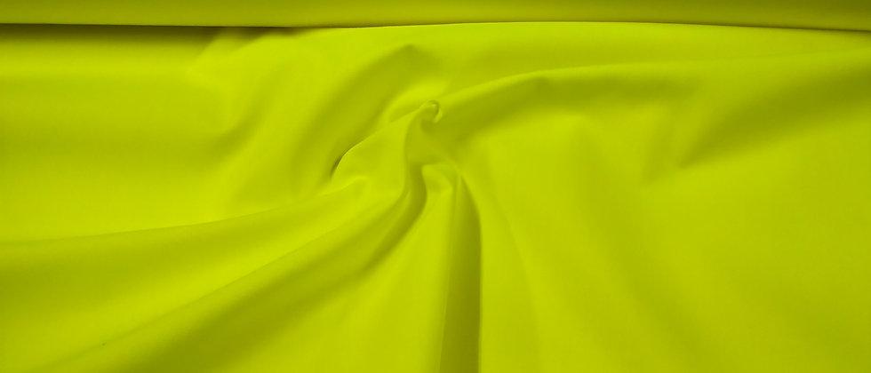 Algodón liso amarillo fluorescente