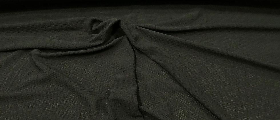 Punto elastano poliester negro