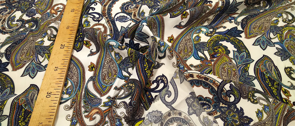 Viscosa de algodón floreado mandalas