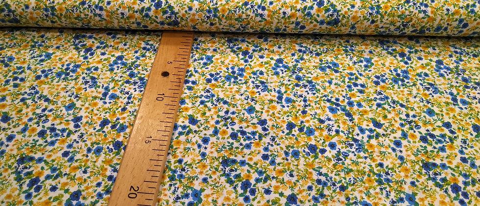 Flores amarillas y azules