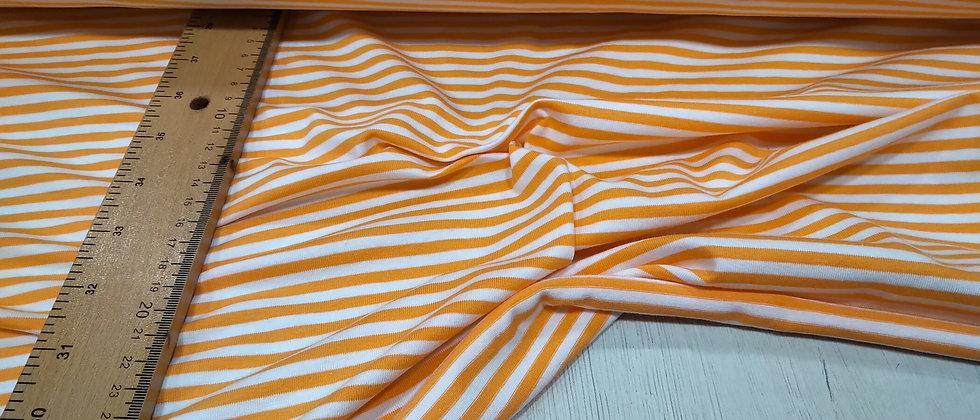 Punto de camiseta rayado naranja 1.70m ancho