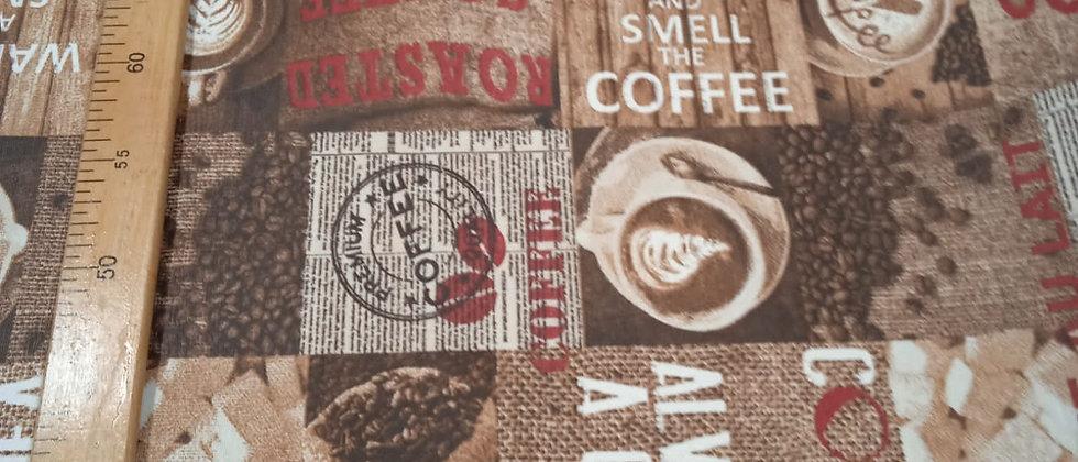 Hule resinado Coffe 1.40m ancho