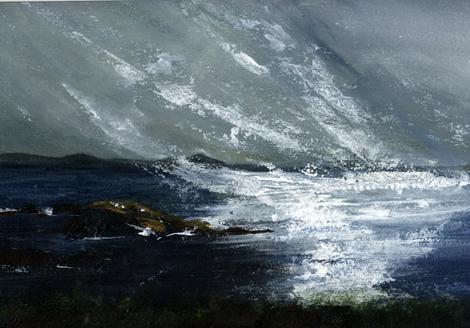 Original Art 'Caerfai Bay' - Acrylic Painting