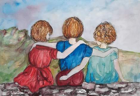 Lets Cwtch - Watercolour Painting