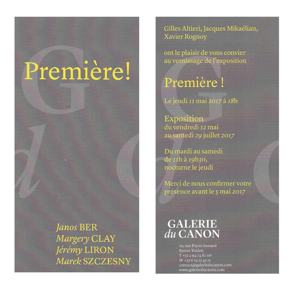 Ouverture et Vernissage à la Galerie du Canon le Jeudi 11 Mai à partir de 18h