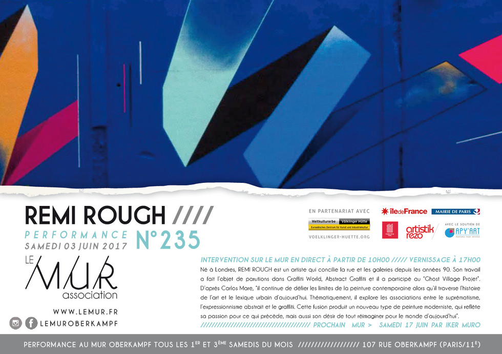 Remi Rough au M.U.R. Paris