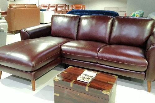 Leonard Sectional - Full leather