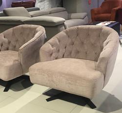 Domino Swivel Lounge Chair
