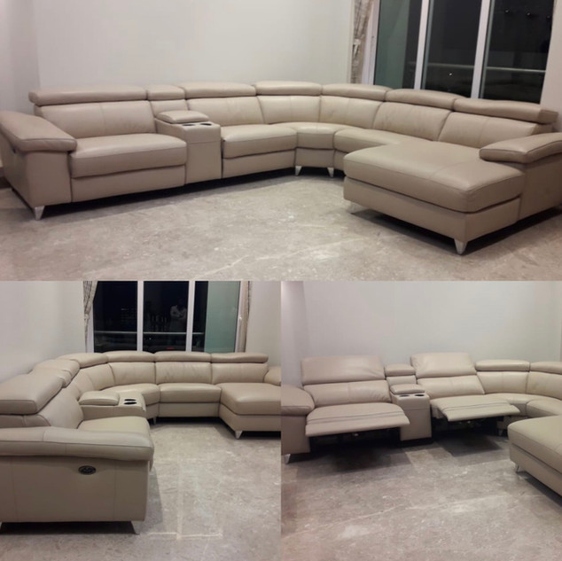 Bolivia C shape with recliner & lounger