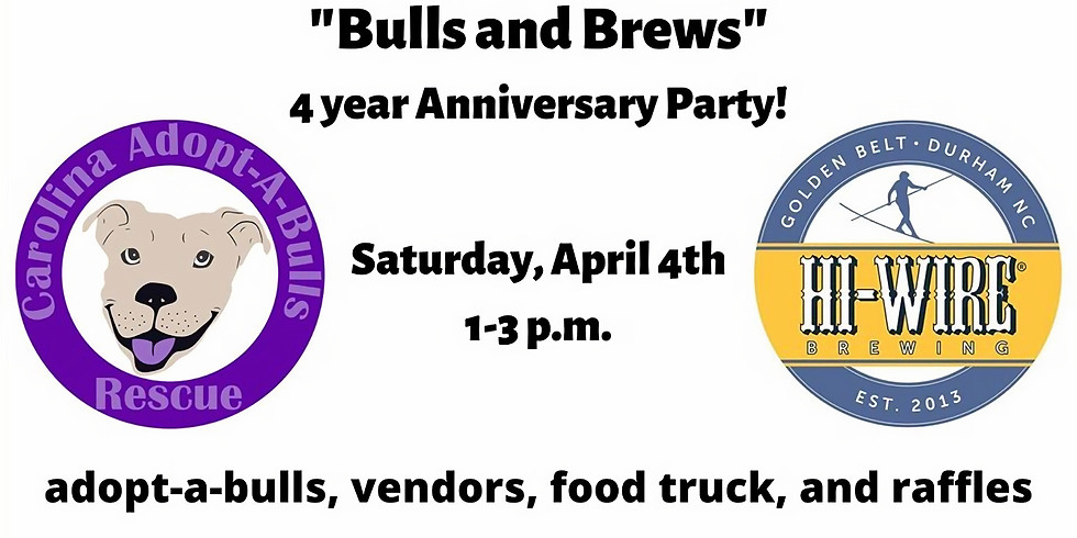 Bulls and Brews 4 year Anniversary Party at Hi-Wire Brewing!