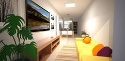 Vista das salas integradas