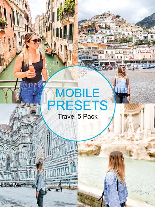 HMG  Travel Mobile Presets Volume 1-5 Pack