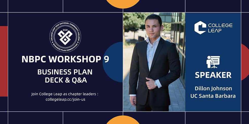NBPC Workshop 9: Business Deck Template & Q&A