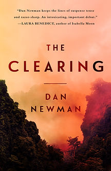 Cover art for Dan Newman's thriller, The Clearing