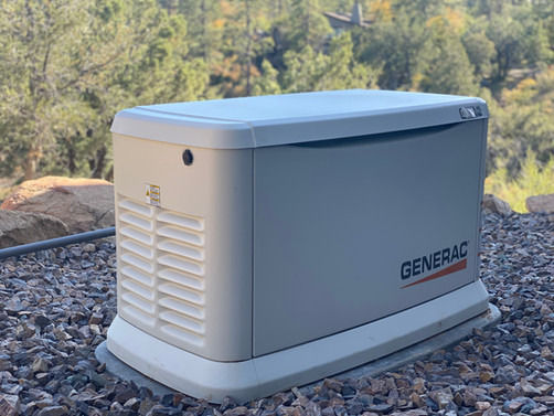 Generac whole home back up generator