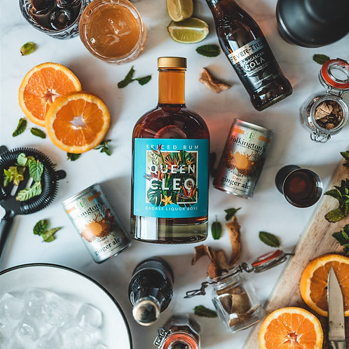 Queen Cleo Spiced Rum - 70cl Bottle