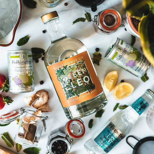 Queen Cleo Elderflower Gin - 70cl Bottle