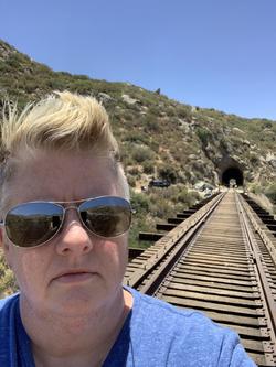 Campo railroad tunnel to Mexico