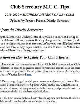 Key Club Board